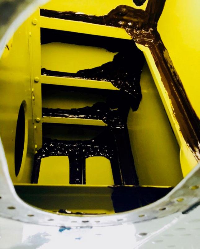 Hawker Fuel Leak Repair
